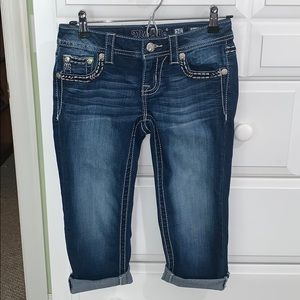 LN Like New Women's Miss Me Jean Capris Size 25 2